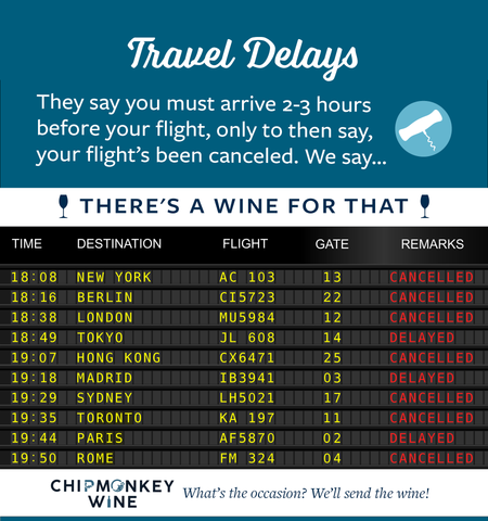 Travel Delays Chipmonkey Wine
