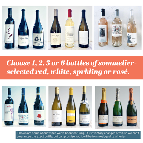 Array of wines to gift