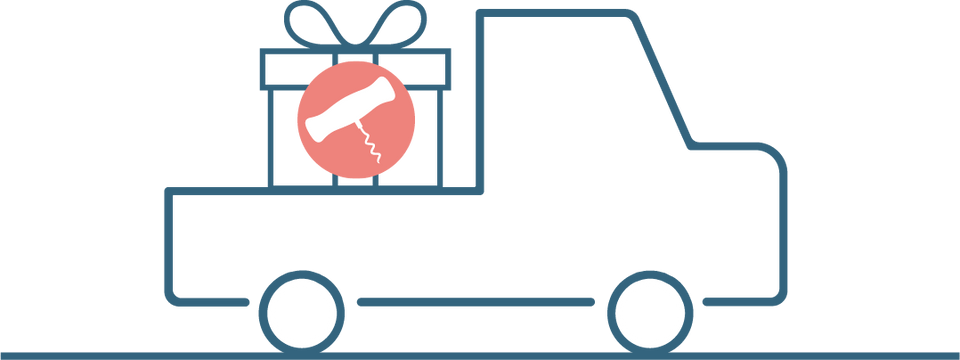 Gift in truck icon