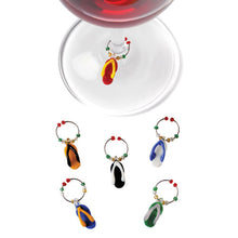 Load image into Gallery viewer, Flip-flop Wine Charms