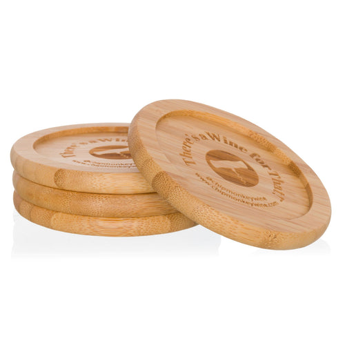 There's a Wine for That Bamboo Coasters