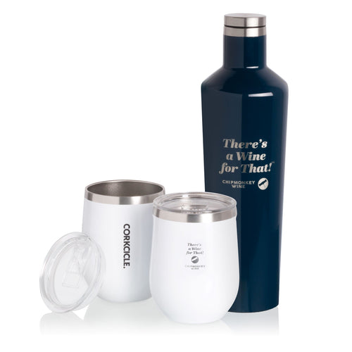 Corkcicle Insulated Canteen and 2 Tumblers