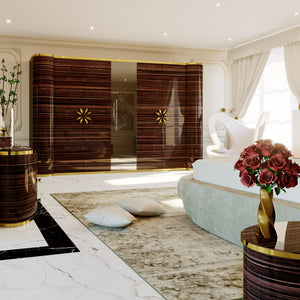 Luxury Ebony Wardrobe - Lotus