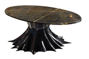 Exclusive Spider Pedestal Marble Coffee Table - Gattopardo