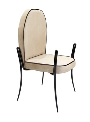 Luxury Spider Upholstered Soft Velvelt Dining Chair - Gattopardo