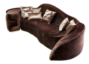 High End Sleepy Cat Design Soft Velvet Sofa - Gattopardo