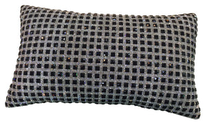 Luxury Cushion - Premier Black & Silver