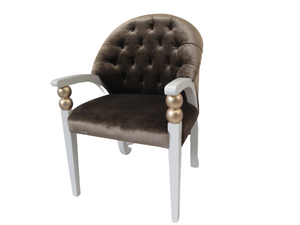 Luxury Velvet Upholstered Dining Armchair - Gaudi