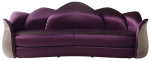 High End Contemporary Suede Flower Sofa - Lotus