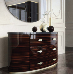 Luxury Leaf  Design Dresser - Lotus