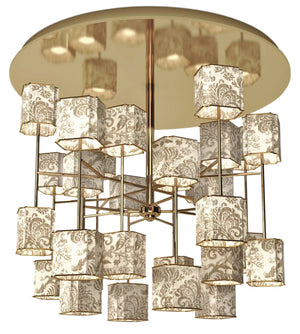 Exclusive Bvlgari Gold Ceiling Lamp - Roses Lotus