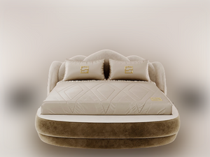 Luxury  Upholstered Flower Modern Bed - Lotus