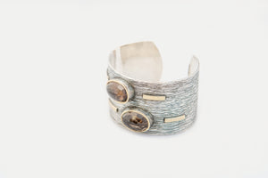 Silver Bracelet with Fumé Quartz