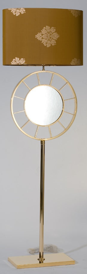 Gold Contemporary Floor Lamp - Monthley
