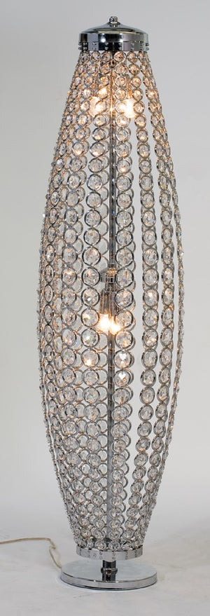 Luxury Silver Plated Swarovski Floor Lamp - Sidney I