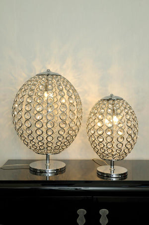 Luxury Silver Plated Swarovski Crystal Table Lamp - Sidney III