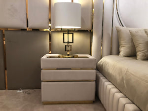 Soft Velvelt Luxury Bedside Table - Signature