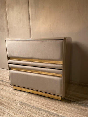 High End 2 Drawers Luxury Bedside Table - Gattopardo