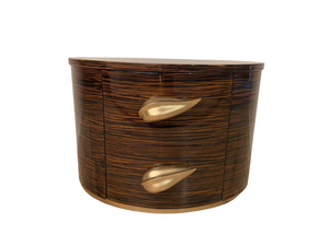 Luxury Leaf  Design Bedside Table - Lotus