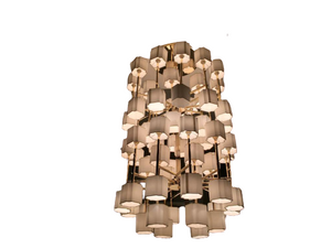 Exclusive Bvlgari Gold Ceiling Lamp - Roses Lotus II