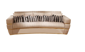 High End Contemporary Velvet Sofa - Signature