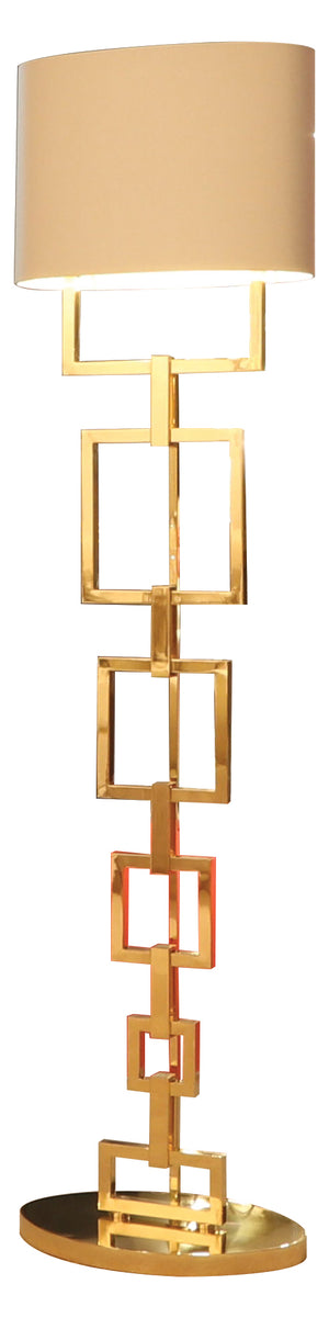 Gold Contemporary Floor Lamp - Signature