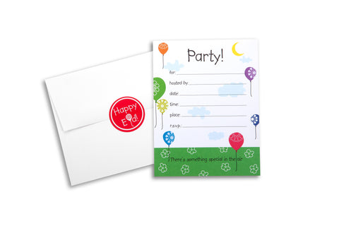 Flying High Party Invitations