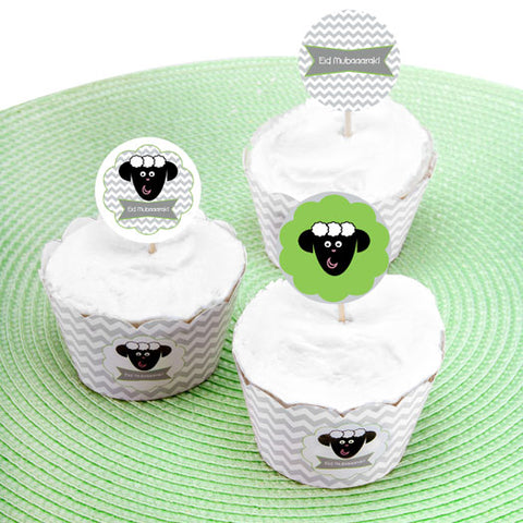 MubAArak Sheep Eid Cupcake Kit