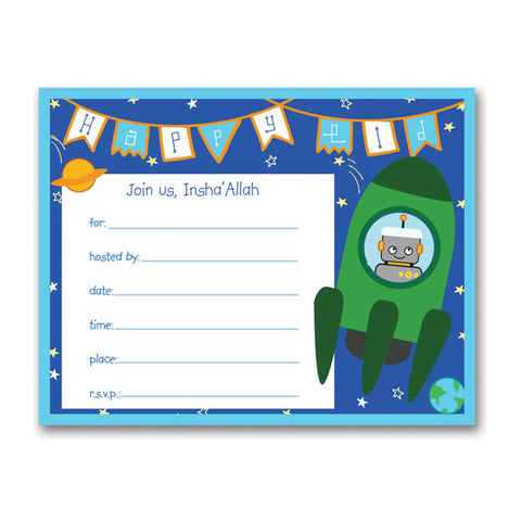 Rockets 'n Robots Eid Invitations
