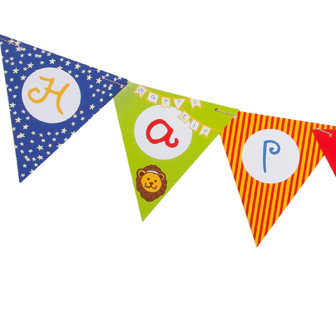 Big Top Circus Eid Bunting Flag Kit