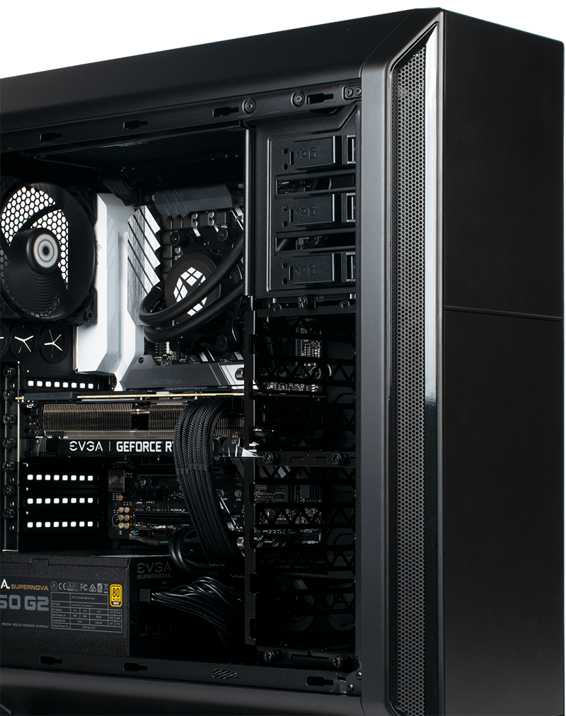 Side view of 800 PRO showing internal parts