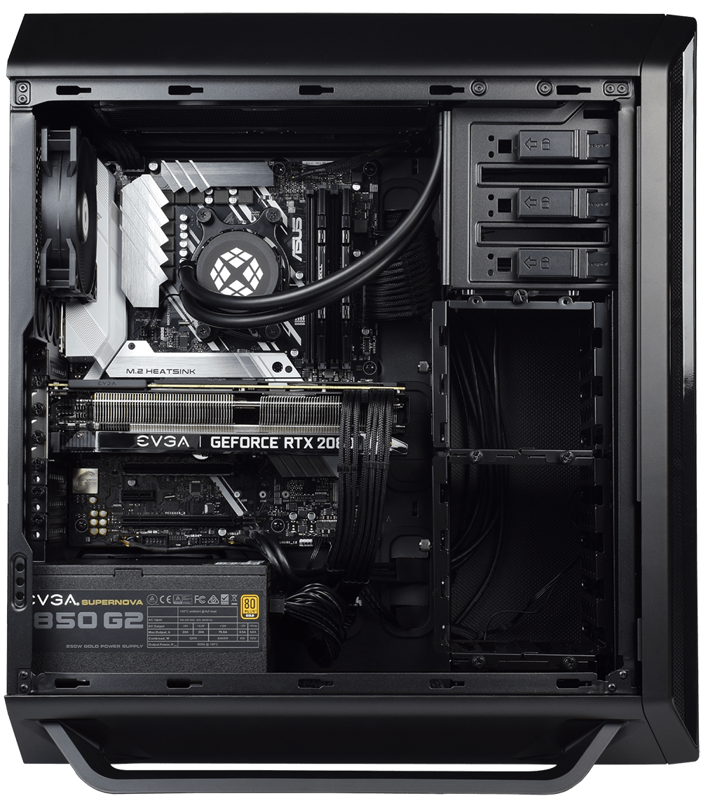 Internal view of 800 PRO showing Graphics Card