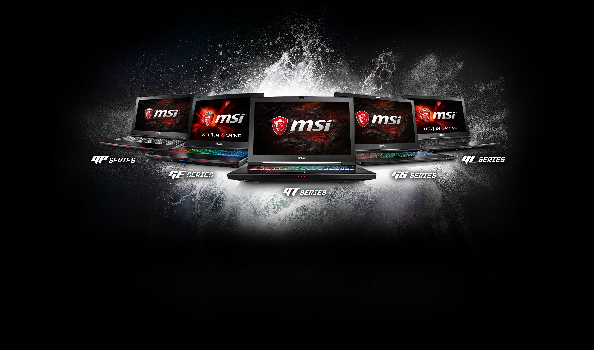 Image of MSI laptops