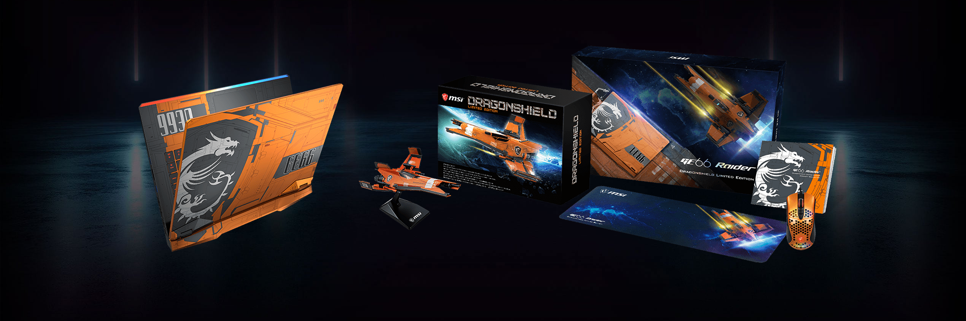 Complete your gaming room setup with the limited edition gaming mouse, mousepad, and Dragonshield spaceship model. Own the Dragonshield Limited editiation and pilot to the ends of the galaxy.
