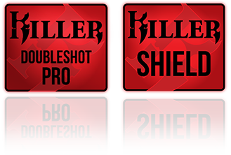 Killer Doubleshot Pro and Killer Shield Logos