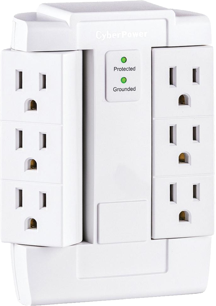 Cyber Power CSB600WS Swivel Surge Protector