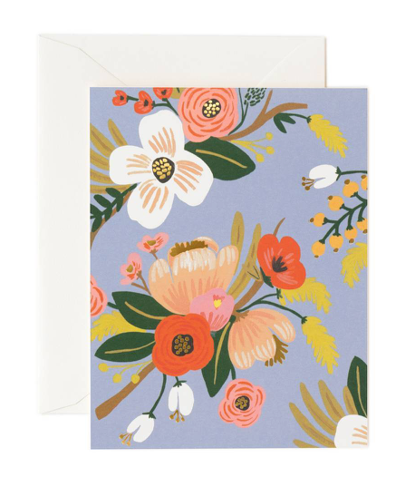 Blue Lively Florals Card