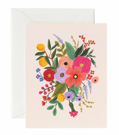 Blush Flower Garden Card