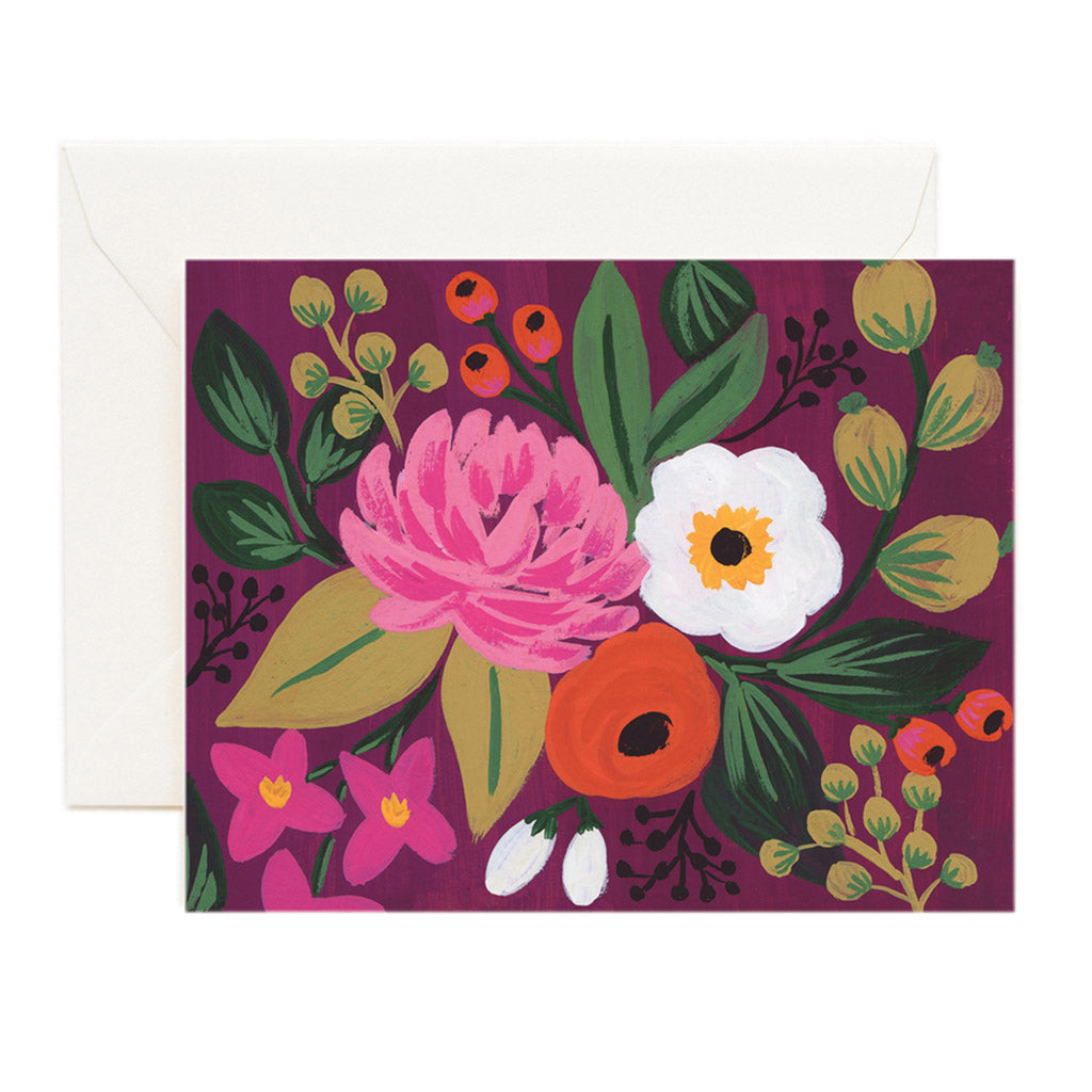 Burgundy Floral Arrangement Card