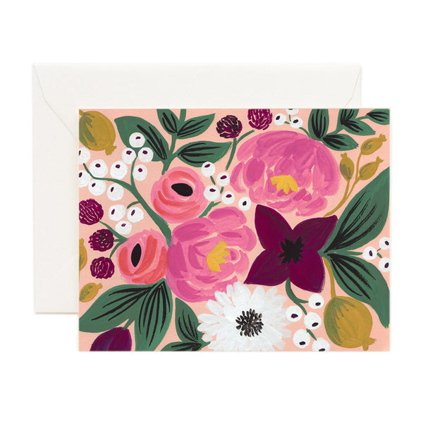 Light Pink Floral Arrangement Card