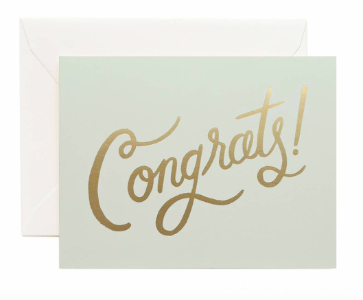 Mint Congrats! Card