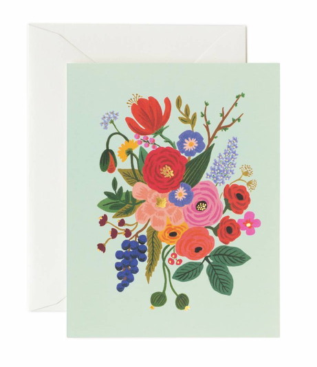 Mint Flower Garden Card
