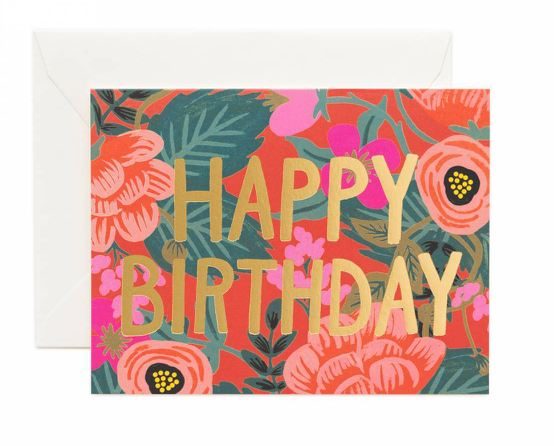 Poppy Happy Birthday Card
