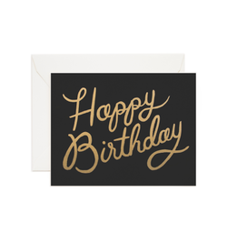 Shimmering Happy Birthday Card