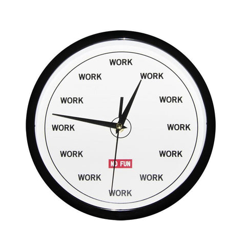 No Fun Press WORK Clock