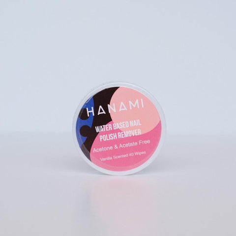 Hanami Water Based Nail Polish Remover Wipes