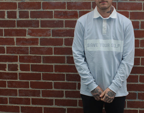 Save Yourself Rugby Jersey - Blue