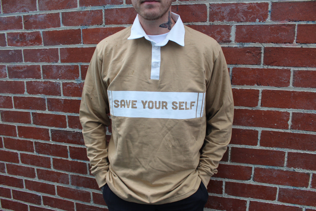 Save Yourself Rugby Jersey - Camel