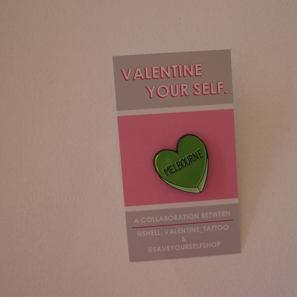 Valentine Yourself 'MELBOURNE' Lapel Pin