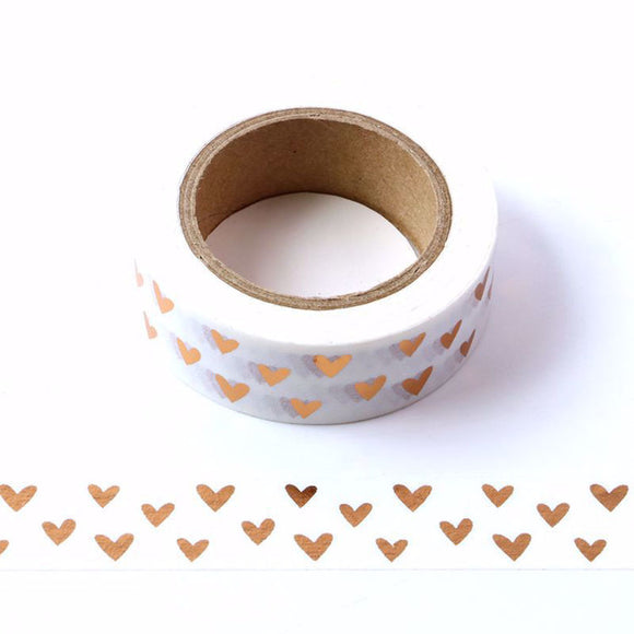 Washi | Gold Foil Hearts